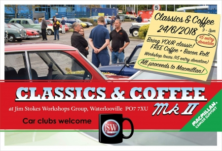 Classics and Coffee at Jim Stokes Workshops
