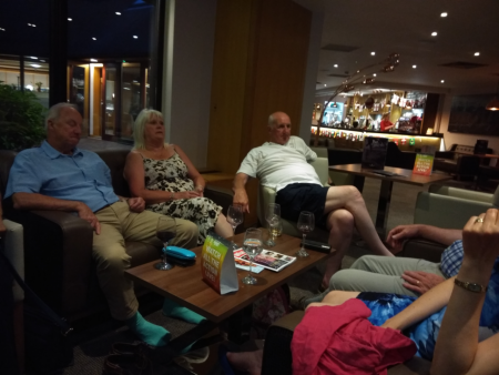 Some of our members relax of an evening