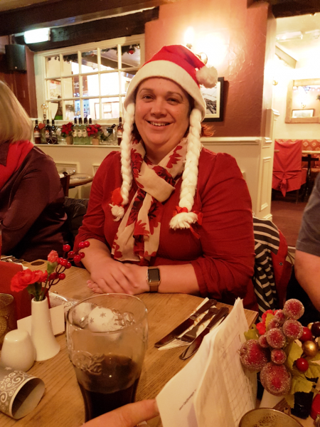 Melissa getting into the festive mood